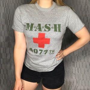 Vintage MASH 1981 Graphic Tee Shirt Top